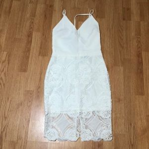 NWT Endless rose white lace dress